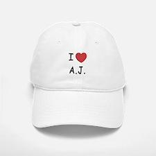 I heart A.J. Baseball Baseball Cap