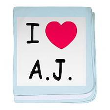 I heart A.J. baby blanket