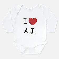 I heart A.J. Long Sleeve Infant Bodysuit