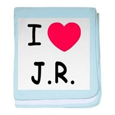 I heart J.R. baby blanket