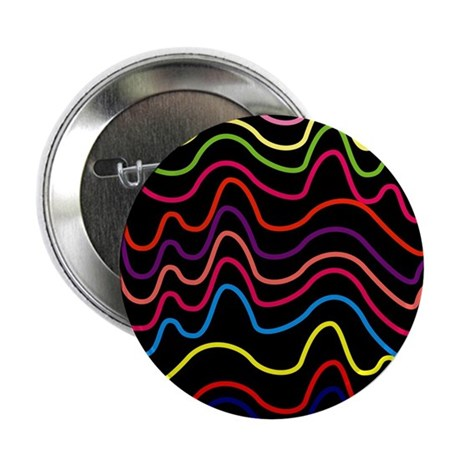 """Colorful Horizontal Squigg 2.25"""" Button (100 pack)"""