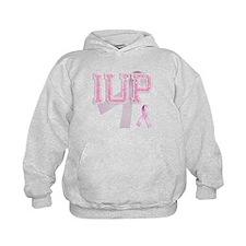 IUP initials, Pink Ribbon, Hoodie