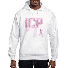 ICP initials, Pink Ribbon, Hoodie