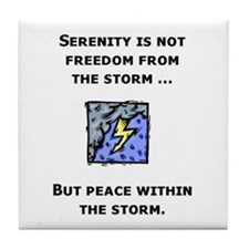 Serenity and the Storm Tile Coaster