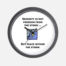 Serenity and the Storm Wall Clock