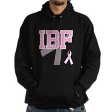 IBF initials, Pink Ribbon, Hoodie