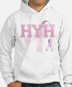 HYH initials, Pink Ribbon, Hoodie