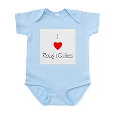I Love Rough Collies Infant Creeper