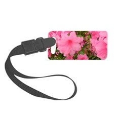 Pink Flowering Azalea Small Luggage Tag