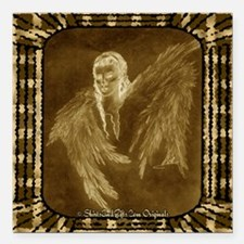 "Glowing Angel Square Car Magnet 3"" x 3"""