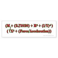 Merry Xmas Math Bumper Bumper Sticker