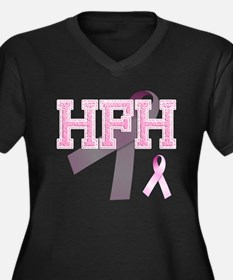 HFH initials, Pink Ribbon, Women's Plus Size V-Nec