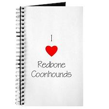 I Love Redbone Coonhounds Journal