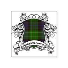 "Abercrombie Tartan Shield Square Sticker 3"" x 3"""