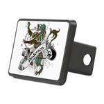 Anderson Tartan Lion Rectangular Hitch Cover - Scottish lion rampant with the Anderson clan tartan and a banner with the family name. - Availble Colors: Black