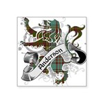 Anderson Tartan Lion Square Sticker 3