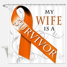My Wife is a Survivor Shower Curtain