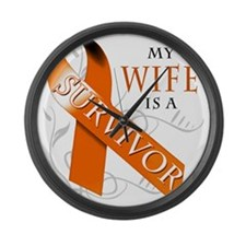 My Wife is a Survivor Large Wall Clock