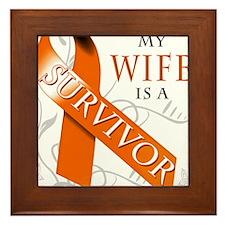 My Wife is a Survivor Framed Tile