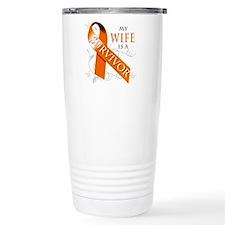 My Wife is a Survivor Travel Mug