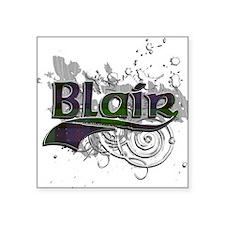 "Blair Tartan Grunge Square Sticker 3"" x 3"""