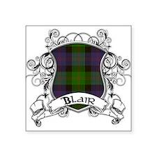 "Blair Tartan Shield Square Sticker 3"" x 3"""