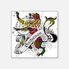 """Buchanan Tartan Lion Square Sticker 3"""" x 3"""""""
