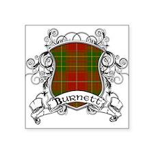 """Burnett Tartan Shield Square Sticker 3"""" x 3"""""""