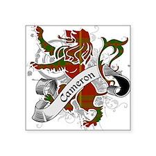 "Cameron Tartan Lion Square Sticker 3"" x 3"""