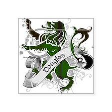 """Douglas Tartan Lion Square Sticker 3"""" x 3"""""""