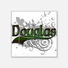 "Douglas Tartan Grunge Square Sticker 3"" x 3"""
