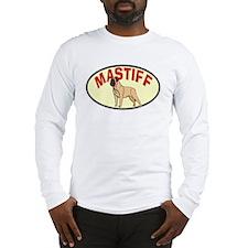 Oval Retro Mastiff Long Sleeve T-Shirt