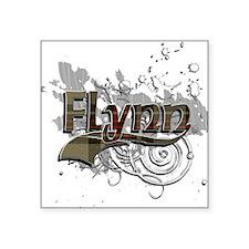"Flynn Tartan Grunge Square Sticker 3"" x 3"""