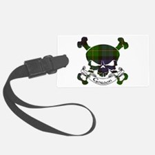 Gordon Tartan Skull Luggage Tag
