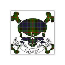 "Gunn Tartan Skull Square Sticker 3"" x 3"""