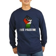 Free Palestine White Long Sleeve T-Shirt