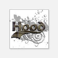 "Hood Tartan Grunge Square Sticker 3"" x 3"""