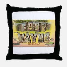 Fort Wayne Indiana Throw Pillow