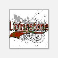 "Livingstone Tartan Grunge Square Sticker 3"" x 3"""
