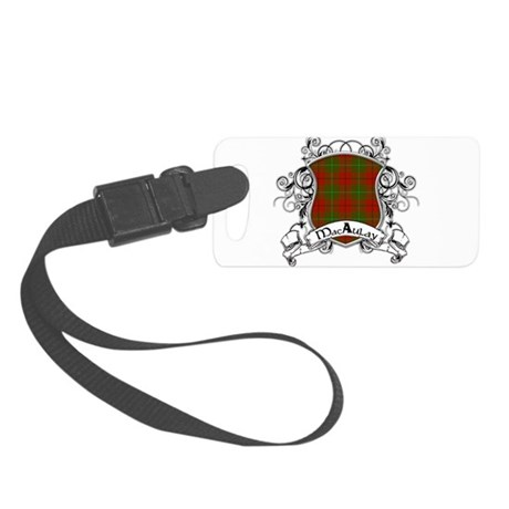 MacAulay Tartan Shield Small Luggage Tag
