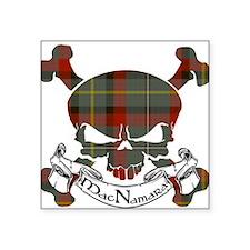 """MacNamara Tartan Skull Square Sticker 3"""" x 3"""""""