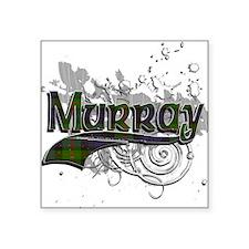 "Murray Tartan Grunge Square Sticker 3"" x 3"""