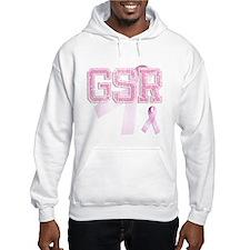 GSR initials, Pink Ribbon, Jumper Hoody