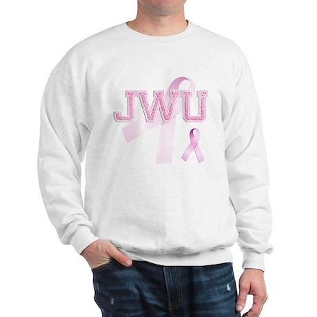 JWU initials, Pink Ribbon, Sweatshirt