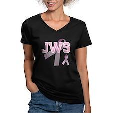 JWS initials, Pink Ribbon, Shirt
