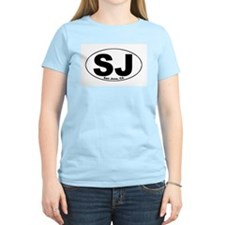 SJ (San Jose, CA) Women's Pink T-Shirt
