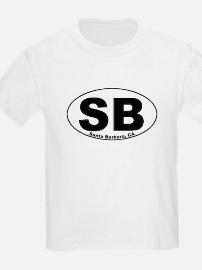 SB (Santa Barbara)  Kids T-Shirt