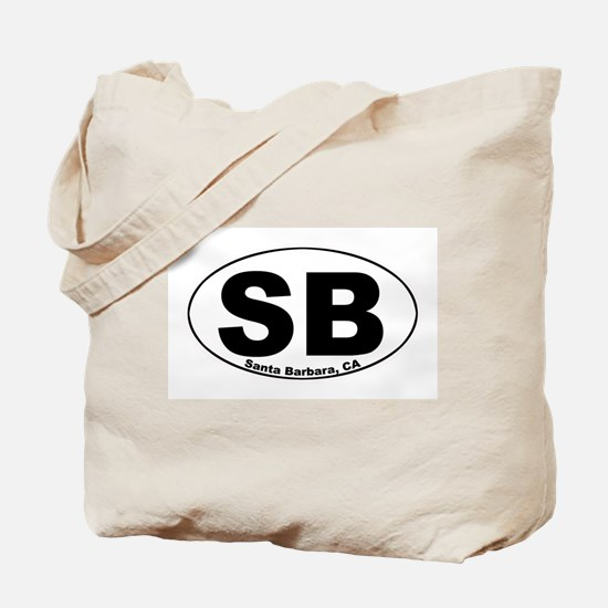 SB (Santa Barbara)  Tote Bag