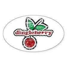 Dingleberry Oval Decal