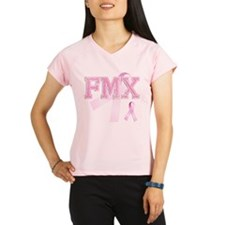 FMX initials, Pink Ribbon, Performance Dry T-Shirt